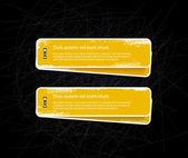 Grungy vector yellow badges — Stock Vector