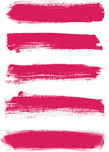 Pink vector brush strokes collection — Stock Vector