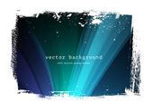 Dark blue vector background with grungy border — Stock Vector