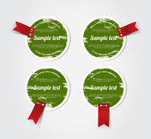 Round grungy vintage vector labels — Stock Vector