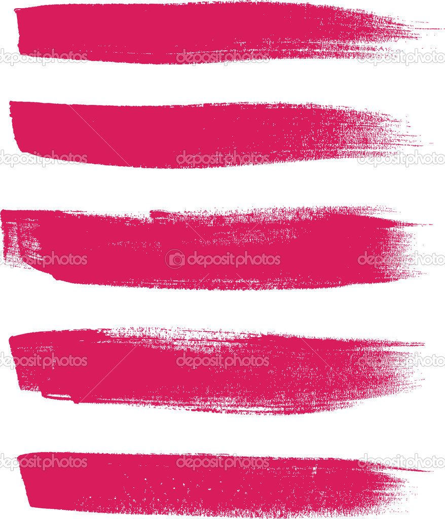 Pink Vector Brush Strokes