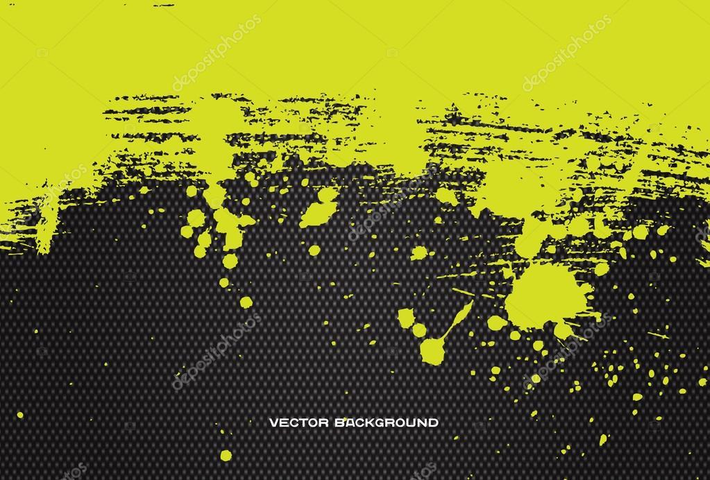 Black And Yellow Paint Splatter Paint Splatter Over Black