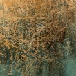 Dirty old paper with scratched and cracked grungy blue paint background — Stock Photo #26670581