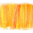 Yellow - orange abstract hand painted background texture with grungy weathered border — Stock Photo