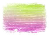 Roze en groen gedragen gladde moderne gestreepte achtergrond met grungy rand — Stockfoto