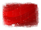 Red worn smooth modern wavy background with grungy border — Stock Photo