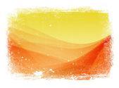 Amarelo e vermelho usado liso moderno fundo ondulado com borda suja — Foto Stock
