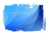 Blue vector smooth wavy background with grungy border — Stock Vector