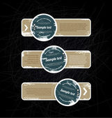 Grungy vintage vector labels — Stock Vector