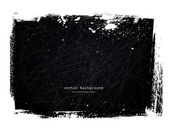 Black grungy scratched vintage background — Stock Vector