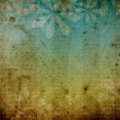 Lightly striped grunge dirty retro vintage old paper background with floral theme — Stock Photo