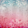Stock Photo: Grunge retro vintage background with floral theme