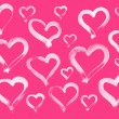 Pink hand painted hearts background — Stock Photo #26984193