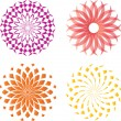 Abstract vector round signs — Stock Vector