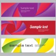 Colorful geometric abstract vector banners — Stock Vector