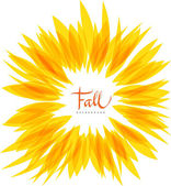 Yellow fall floral abstract background — Stock Vector