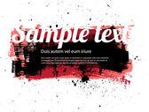 Rode vector geschilderd grungy banner - badge - achtergrond — Stockvector