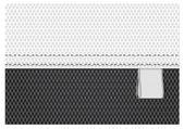 černá a bílá vektor tkaniny textilní pozadí s bílou stuhou značky — Stock vektor