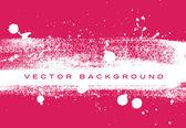 розовый вектор шероховатый кисти инсульта ручная роспись фон с брызги краски — Cтоковый вектор