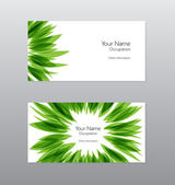 Abstract vector green organic business card design — Stock Vector