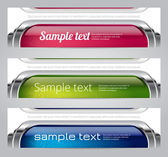 Colorful glossy vector banners — Stock Vector