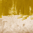 Yellow abstract hand-painted brush stroke daub background — Stock Photo