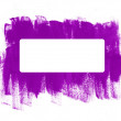 Purple hand-painted brush strokes frame — Stock Vector