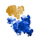 Abstract isolated watercolor stains — Stock Photo