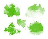 Abstract green watercolor stains — Stock Photo