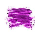 Purple hand painted strokes texture — Stock Photo