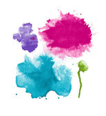 Abstract isolated watercolor stains — 图库照片