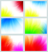 Colorful abstract smooth backgrounds set — Stock Photo