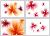 набор красный абстрактные цветочные фоны — Стоковое фото