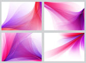 Purple abstract smooth backgrounds set — Stock fotografie