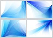 Blue abstract smooth backgrounds set — Stockfoto
