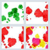 Abstract isolated watercolor stains set — Zdjęcie stockowe