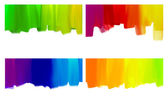 Paint brush strokes backgrounds set isolated on white — Stock Photo