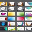 Set of 36 colorful abstract vector business card - banner templates — Stok Vektör