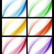Colorful abstract smooth backgrounds set  — Stock Vector