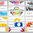 Set of 18 various colorful vector banners — Stock Vector