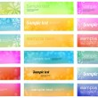 Set of 18 colorful bright vector banners with smooth floral backgrounds — Stock Vector