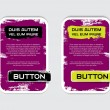 Two purple vector grungy rectangular paper banners — Vector de stock