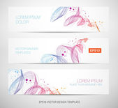 Abstract dynamic wave banners — Stock Vector