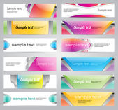 Set of twelve bright glossy vector banners — Stockvektor