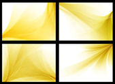 Yellow colorful smooth vector backgrounds set — Stockvektor