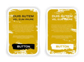 Zwei gelb vector grunge Papier rechteckig Aufkleber — Stockvektor