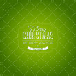 Vector vintage green christmas card — Stock Vector