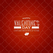 Vector vintage style valentine's day greeting card  — Vettoriali Stock