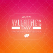 Vector vintage style valentine's day greeting card — Векторная иллюстрация