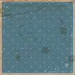 Vector old blue used dirty craft paper vintage background with dotted pattern — Stock Vector